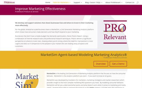 Tools for Marketers | MarketSim Product and Services
