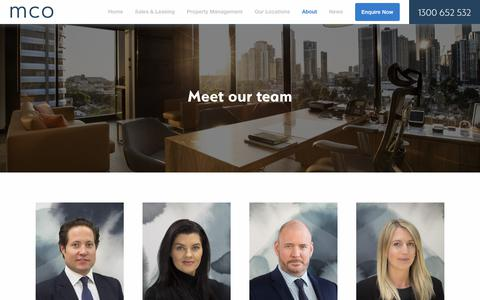 Screenshot of About Page Team Page mco.com.au - Team Archive – MCO - captured Dec. 8, 2018
