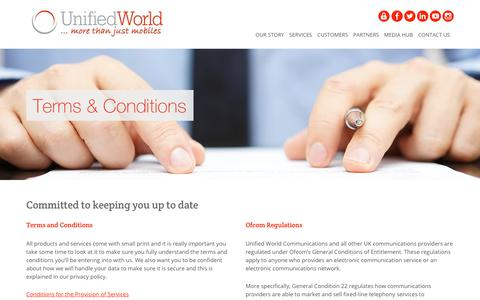 Screenshot of Terms Page unifiedworld.co.uk - Terms & Conditions | Unified World Communications - captured Feb. 1, 2018