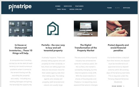 Screenshot of Blog pinstripe.services - Blog — Pinstripe Inventories - captured July 18, 2018