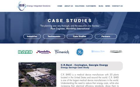 Screenshot of Case Studies Page energyintegratedsolutions.com - Energy Integrated Solutions  | Bard - captured Nov. 5, 2018