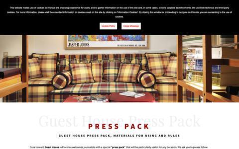 Screenshot of Press Page casahoward.com - Guest House press pack - guest house - press pack - captured Oct. 21, 2018