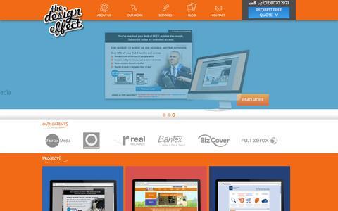 Screenshot of Home Page thedesigneffect.com.au - The Design Effect Print & Website Design - Sydney | Castle Hill | Bella Vista - captured Sept. 30, 2014