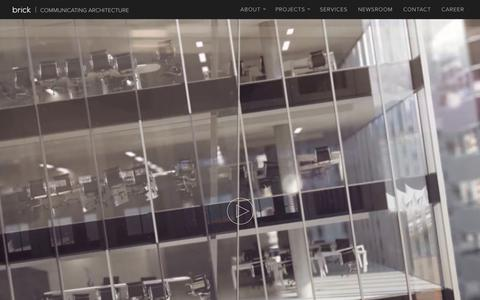Screenshot of Home Page brickvisual.com - Brick Visual - High-End Architectural Visualization Solutions - captured June 2, 2017