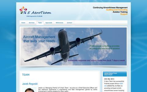 Screenshot of Team Page 5aeroteam.com - 5 Aero Team - Team - captured Oct. 7, 2014