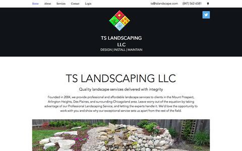 Screenshot of Home Page tslandscape.com - TS Landscaping   Mount Prospect   Design Install Maintain - captured Oct. 24, 2017