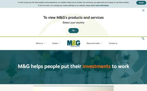 Screenshot of About Page mandg.com - Find Out More About M&G | M&G Investments - captured Dec. 8, 2017