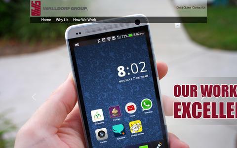Screenshot of Home Page walldorfgroup.com - WalldorfGroup | The Best Smart Phone Development Company,Period!® - captured Feb. 15, 2016