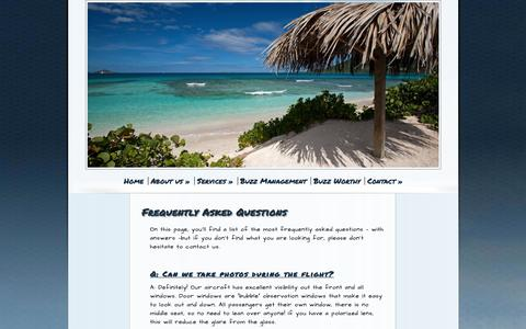 Screenshot of FAQ Page caribbean-buzz.com - Frequently Asked Questions - Caribbean Buzz helicopters - captured Jan. 25, 2016