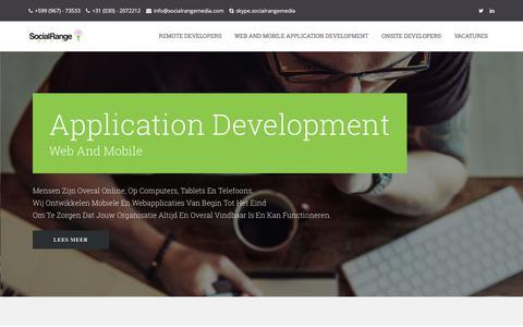 Screenshot of Home Page socialrangemedia.com - Social Range Media - captured Nov. 11, 2017
