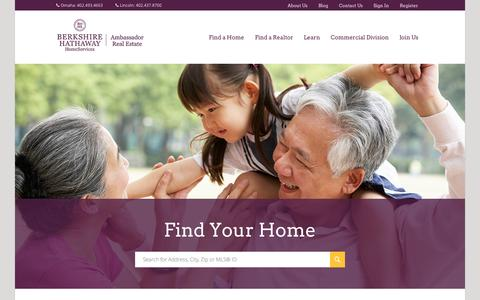 Screenshot of Home Page bhhsamb.com - Omaha Real Estate - Omaha and Lincoln Homes for Sale - Berkshire Hathaway HomeServices Ambassador Real Estate Ambassador Real Estate - captured Jan. 23, 2015