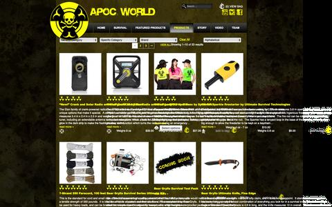 Screenshot of Products Page apocworld.com - Products Archive - ApocWorld - captured Sept. 30, 2014