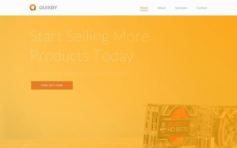 Screenshot of Home Page quixby.com - Home | Quixby - captured Sept. 10, 2014