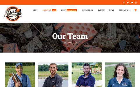 Screenshot of Team Page mishoot.com - Our Team - Michigan Shooting Centers | Island Lake and Bald Mountain Shooting Ranges - captured Oct. 18, 2018