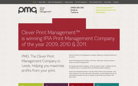 Screenshot of Home Page pmg-pm.co.uk - Clever Print Management Company | Print Management Yorkshire | PMG - captured Oct. 1, 2014