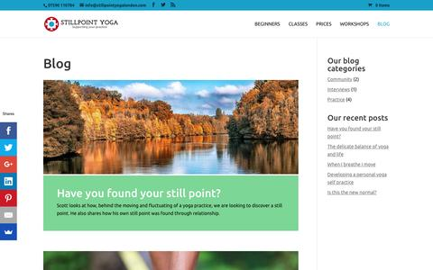 Screenshot of Blog stillpointyogalondon.com - Blog - Stillpoint Yoga London - captured Nov. 21, 2016