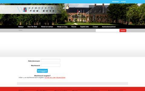Screenshot of Login Page tenboer.nl - Gemeente Ten Boer - De website van de gemeente Ten Boer - captured Nov. 3, 2016