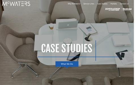 Screenshot of Case Studies Page mcwaters.com - Case Studies | McWaters - captured Feb. 12, 2016