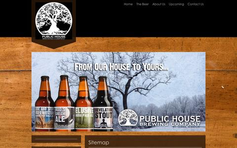 Screenshot of Site Map Page publichousebrewery.com - Public House Brewing Company - Home - captured Feb. 1, 2016