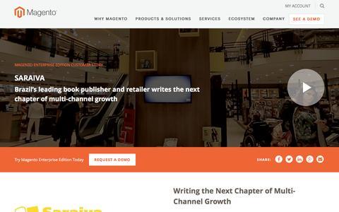 Screenshot of Case Studies Page magento.com - Saraiva | Magento - captured March 9, 2017