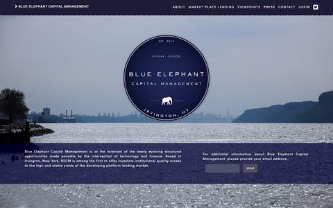 Screenshot of Home Page bluelep.com captured Sept. 13, 2015