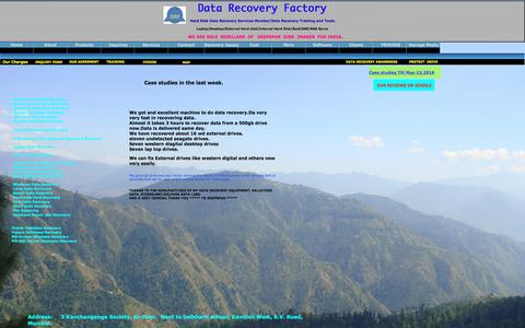 Screenshot of Case Studies Page datarecoveryfactory.com - Data Recovery FactoryHard disk data recovery In Mumbai|Data Recovery Training-Tools| - captured Nov. 19, 2016