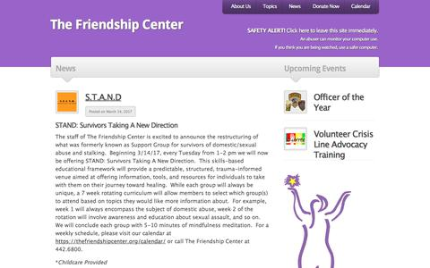 Screenshot of Press Page thefriendshipcenter.org - The Friendship Center | Archive | News - captured Sept. 21, 2018