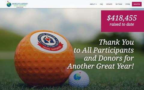 Screenshot of Home Page worldslargestgolfouting.com - World's Largest Golf Outing | Largest Charitable Golf Outing - captured Jan. 27, 2017