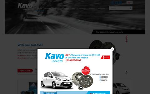 Screenshot of Home Page kavoparts.com - Kavo Parts - The leading supplier for Japanese and Korean spare-parts - captured Oct. 16, 2017