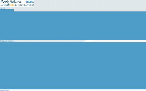 Screenshot of Contact Page mainlymaldives.co.uk - Contact Us - - captured Sept. 30, 2014