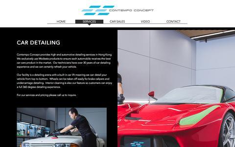 Screenshot of Services Page contempoconcept.com - contempoconcept   SERVICES - captured Sept. 22, 2018