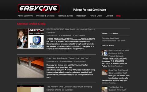 Screenshot of Blog easycove.com - Easycove Blog   Easycove - captured Sept. 29, 2014