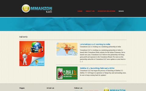 Screenshot of Press Page ummahzonllc.com - Ummahzon LLC Corporation - captured Sept. 30, 2014