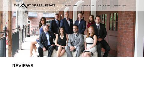 Screenshot of Testimonials Page theartteam.net - REVIEWS - captured Feb. 2, 2016