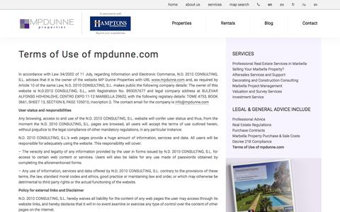 Screenshot of Privacy Page mpdunne.com - Terms of Use of mpdunne.com - captured Aug. 22, 2016