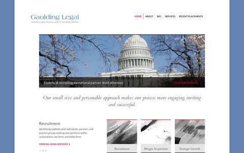 Screenshot of Home Page gauldinglegal.com - Gaulding Legal | Legal Portfolio - captured Oct. 9, 2014