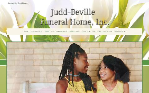 Screenshot of Testimonials Page juddfuneralhome.com - Judd-Beville Funeral Home, Inc. | Allentown PA funeral home and cremation - captured July 2, 2018
