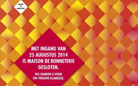 Screenshot of FAQ Page debonneterie.nl - Maison de Bonneterie - captured Sept. 22, 2014