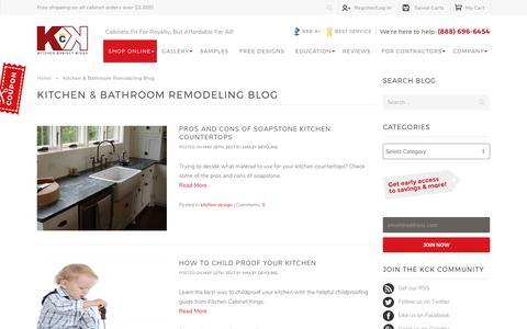 Screenshot of Blog kitchencabinetkings.com - Kitchen & Bathroom Remodeling Blog - Kitchen Cabinet Kings Blog - captured May 19, 2017