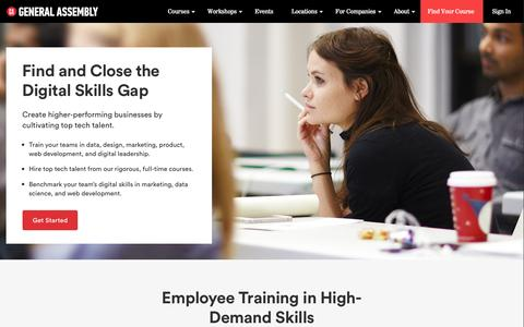 Corporate Training   Digital Training   General Assembly for Business