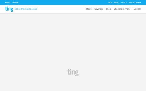 Screenshot of Terms Page ting.com - Ting is a smarter way to do mobile. Check Your Savings. - captured May 15, 2018
