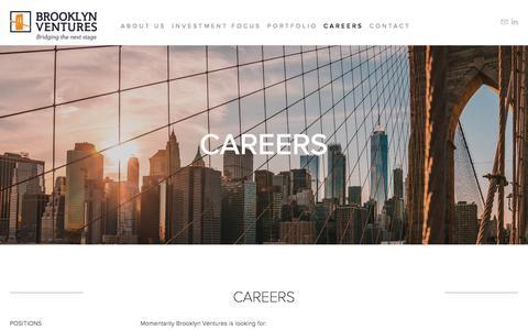 Screenshot of Jobs Page brooklyn-ventures.com - Brooklyn Ventures - captured Aug. 4, 2018