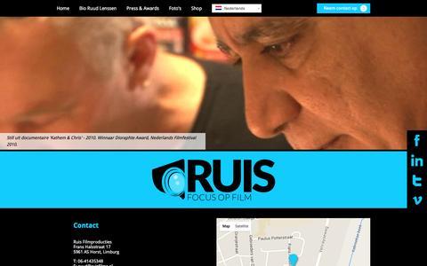 Screenshot of Contact Page ruisfilms.nl - Neem nu contact met ons op! Ruisfilms - captured Feb. 17, 2016