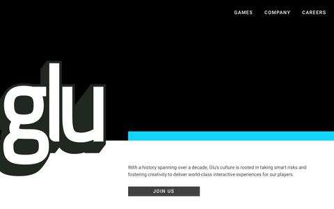 Screenshot of Home Page glu.com - Glu: The Leader in 3D Freemium Mobile Gaming - captured March 20, 2018