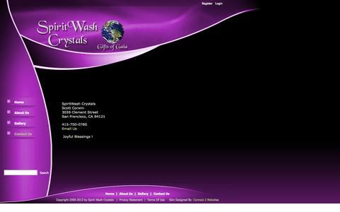 Screenshot of Contact Page spiritwashcrystals.com - Contact Us - captured Oct. 27, 2014