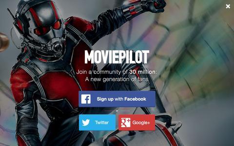 Screenshot of Login Page moviepilot.com - A New Generation of Fans | moviepilot.com - captured Jan. 8, 2016