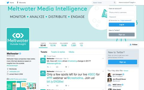Meltwater (@Meltwater) | Twitter