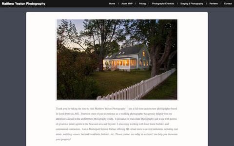 Screenshot of About Page matthewyeaton.com - Matthew Yeaton Photography   About - captured Oct. 17, 2018