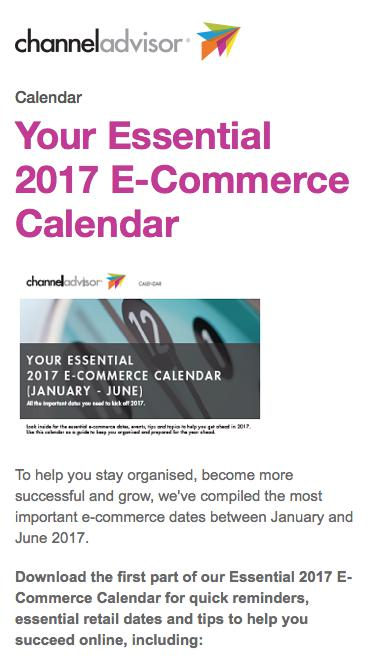 Your Essential 2017 E-Commerce Calendar