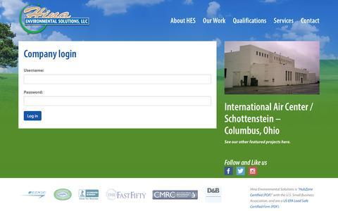 Screenshot of Login Page hinaenvironmental.com - | Hina Environmental Solutions, LLC - captured Jan. 30, 2016